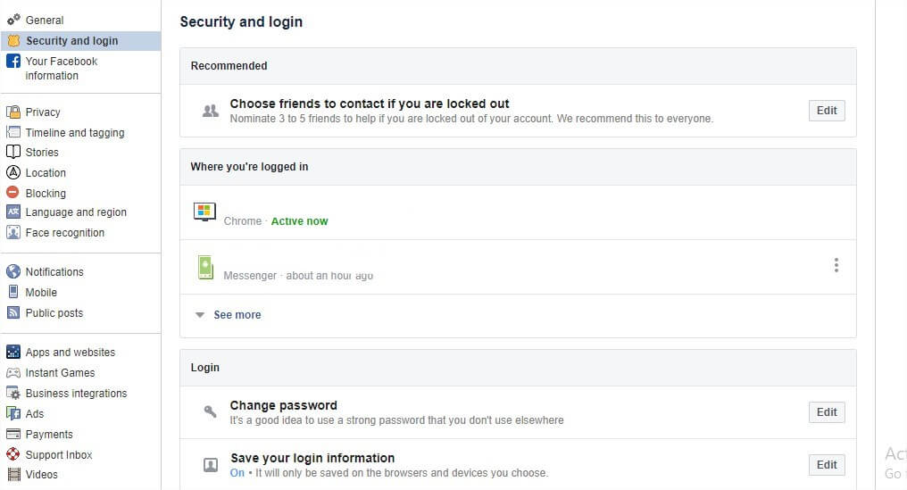 how to change facebook password,facebook password change