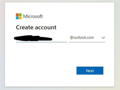 create outlook account,microsoft account